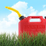 red plastic gas can: SBDPro Automotive Article