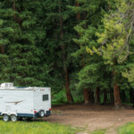 camper van boondocking in forest: SBDPro Automotive Articles