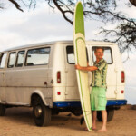 surfer with van
